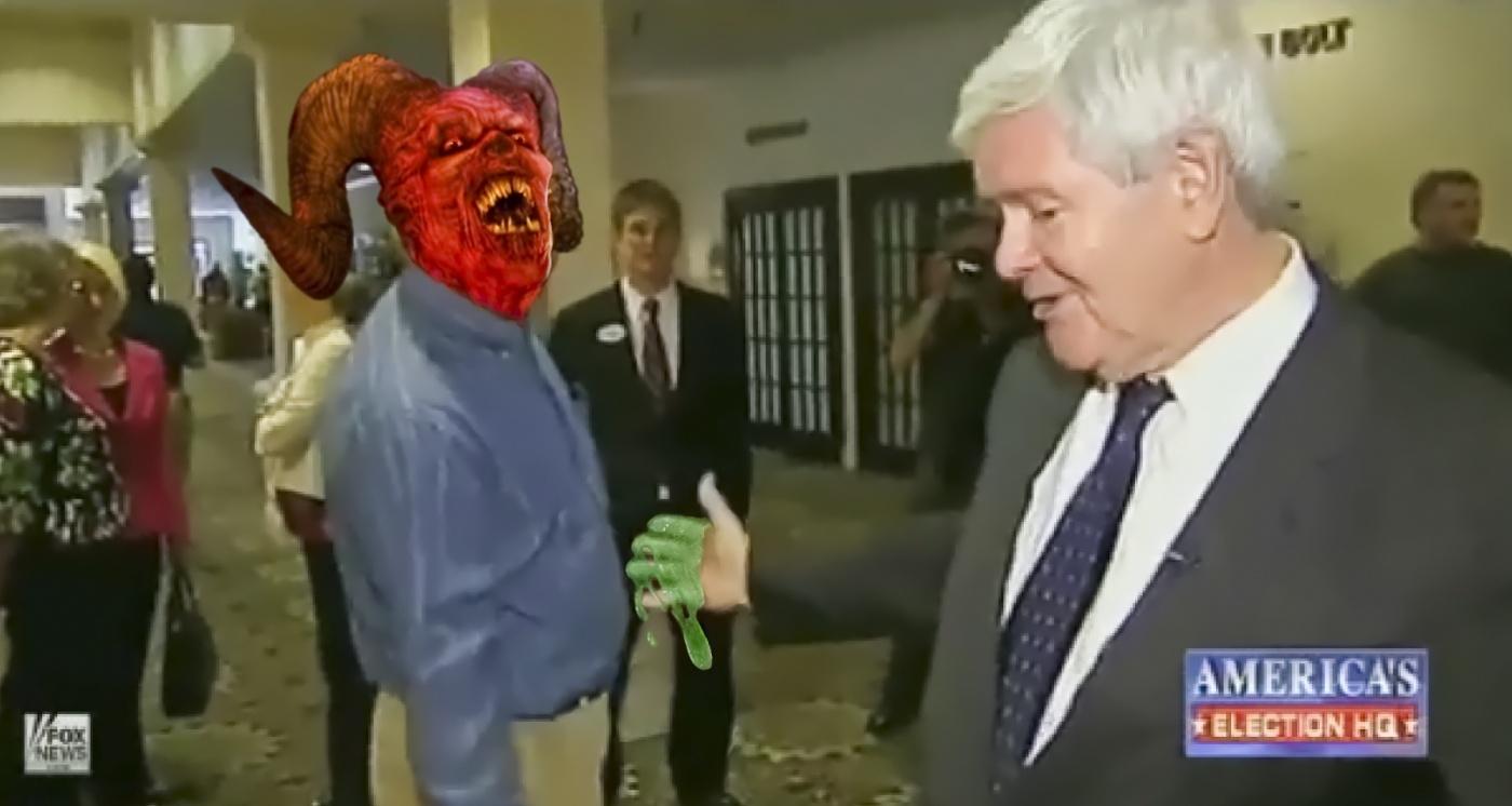 Newt GINGRICH Meets Satan