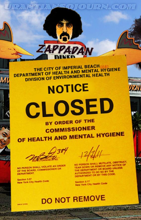 Zappadan Diner Closes